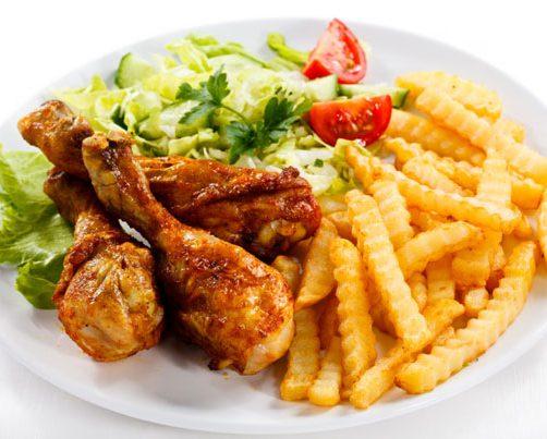 pollo-patatine